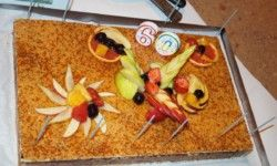 restaurant Arleblanc : birthday cake