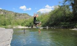 Camping Arleblanc  : mit direktem Zugang zum Fluss