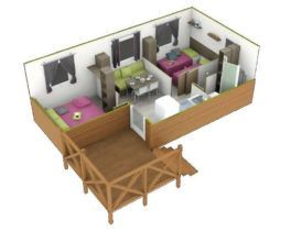 Plan chalet 2 chambres