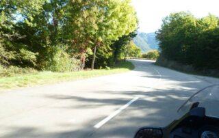 Motorradfahrt in der Ardèche