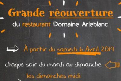 Ouverture du Restaurant Arleblanc