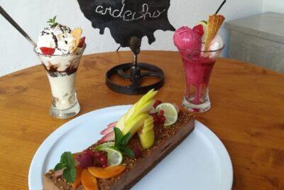 The restaurant's desserts